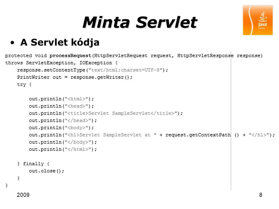 20098 Minta Servlet A Servlet kódja