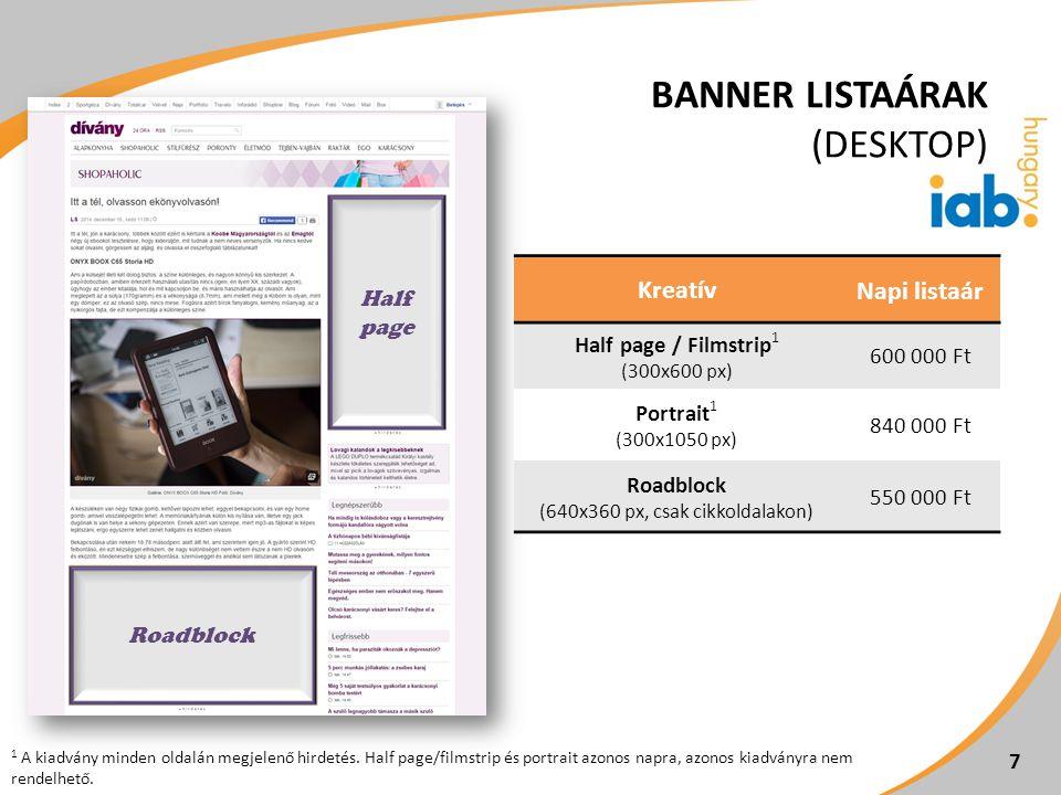 8 8 KreatívKreatív méretNapi listaár XL layer 1 max.