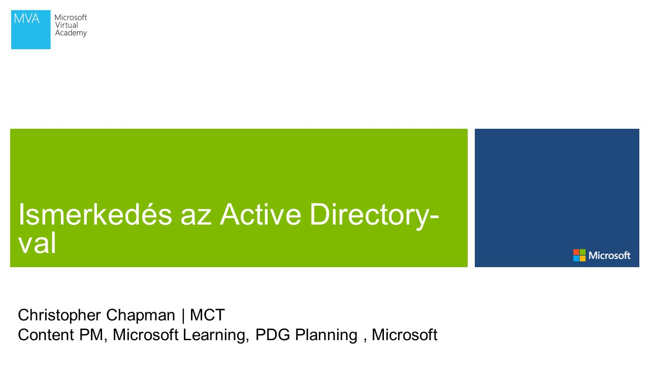 Christopher Chapman | MCT Content PM, Microsoft Learning, PDG Planning, Microsoft