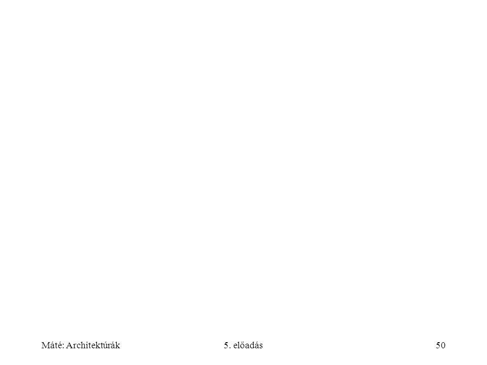Máté: Architektúrák5. előadás50