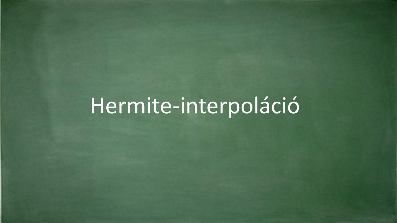 Hermite-interpoláció
