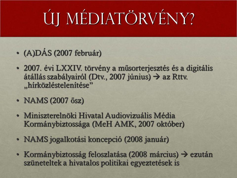 Új Médiatörvény. (A)DÁS (2007 február)(A)DÁS (2007 február) 2007.