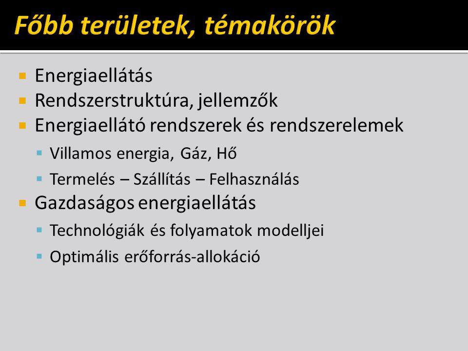  Paradigmaváltás az energiaellátásban  Centralizált, decentralizált  Fogyasztóközeli (elosztott, beágyazott)  Termelő-fogyasztó (prosumer)  Kockázat és megbízhatóság  Energiagazdálkodás szervezési eszközei  Energiaaudit  Energiamenedzsment