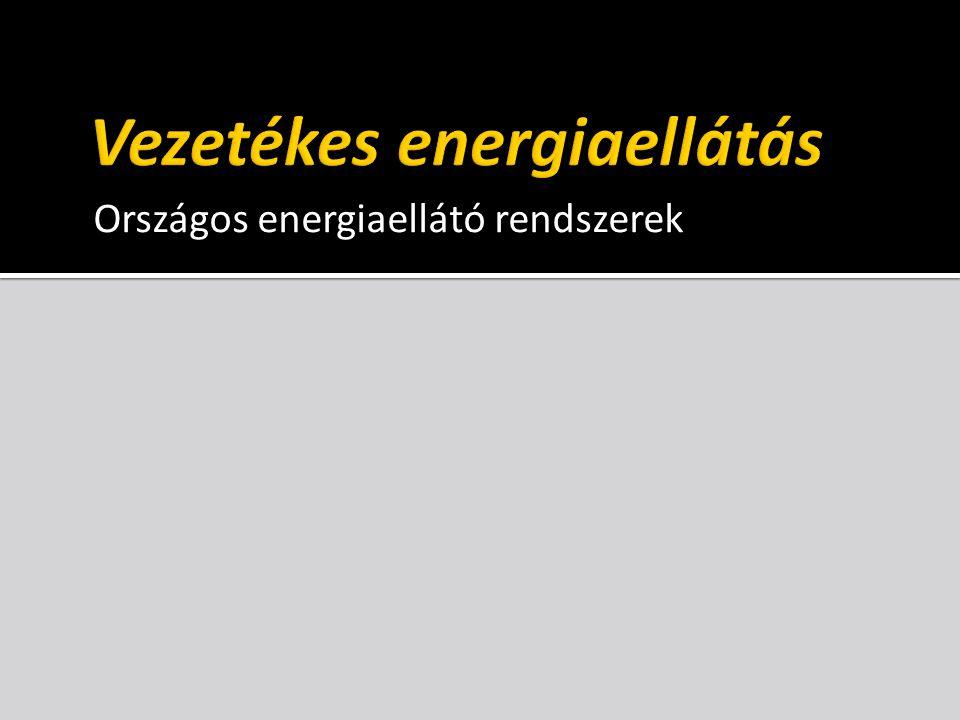 Földgáz infrastruktúra – rendszerelemek hazai kitermelés import feldolgozás a telephelyen feldolgozás a telephelyen szállítás (csővezeték) szállítás (tartály) felhasználás fogyasztó felhasználás fogyasztó gáztározó (földalatti) gáztározó (földalatti) tárolás (palackos) tárolás (palackos) földgáz PB gáz, gazolin 8 Mm 3 /nap orosz: 31 Mm 3 /nap nem orosz: 11 Mm 3 /nap 51,5 Mm 3 /nap 98,5 Mm 3 /nap csúcsfogyasztás, -15 °C