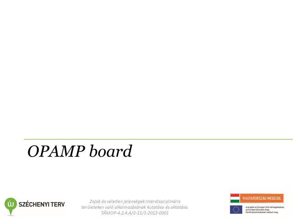 Zajok és véletlen jelenségek interdiszciplináris területeken való alkalmazásának kutatása és oktatása. TÁMOP-4.2.4.A/2-11/1-2012-0001 OPAMP board