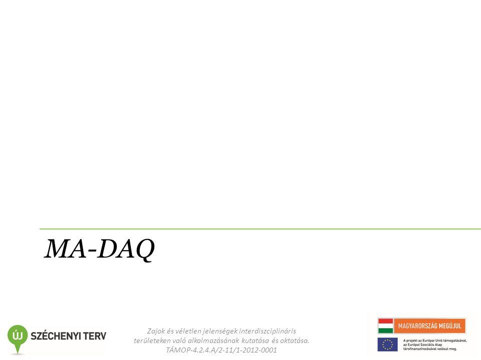 Zajok és véletlen jelenségek interdiszciplináris területeken való alkalmazásának kutatása és oktatása. TÁMOP-4.2.4.A/2-11/1-2012-0001 MA-DAQ