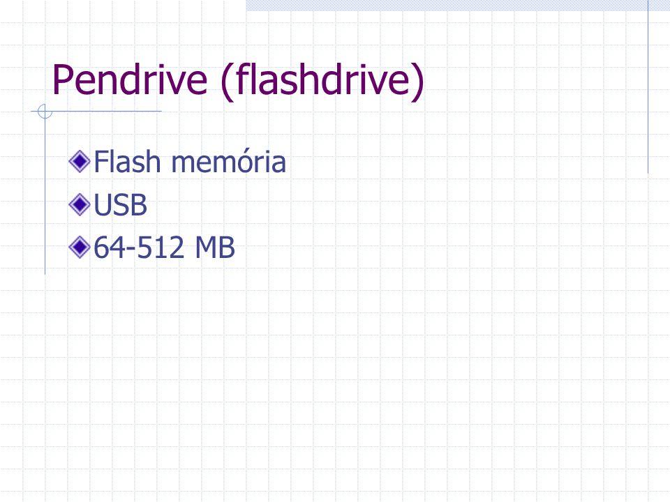 Pendrive (flashdrive) Flash memória USB 64-512 MB