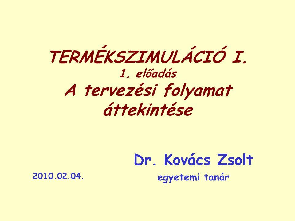 TERMÉKSZIMULÁCIÓ I.1. előadás A tervezési folyamat áttekintése Dr.