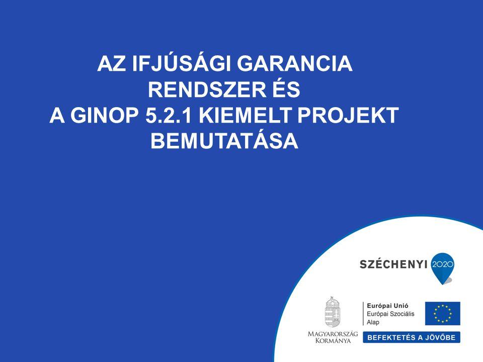 Ifjúsági Garancia Rendszer (IGR) Az IGR háttere: Az ifjúsági munkanélküliség az egyik leghangsúlyosabb probléma Európában.