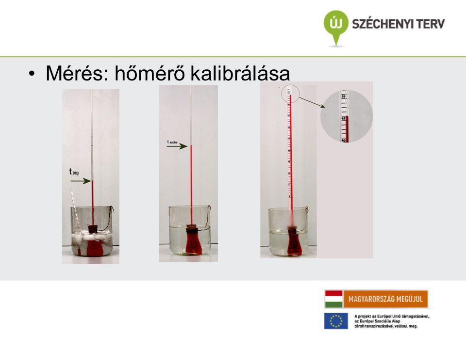 Mérés: hőmérő kalibrálása