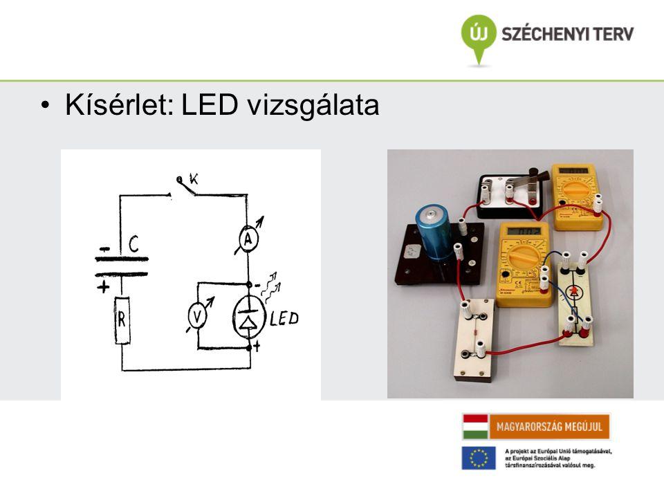 Kísérlet: LED vizsgálata