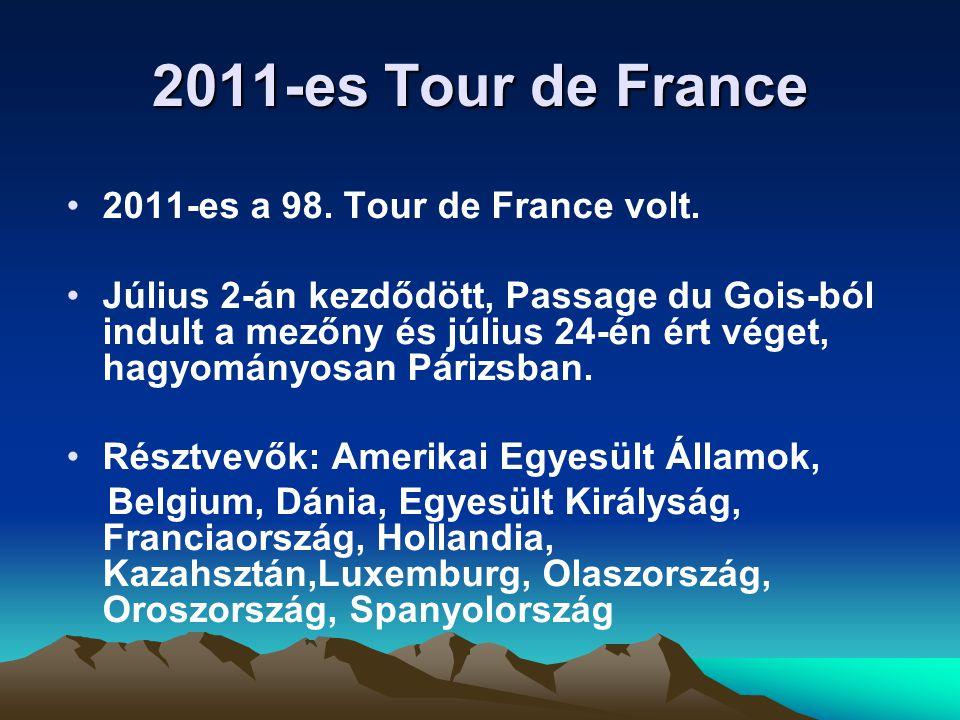 2011-es Tour de France 2011-es a 98. Tour de France volt.