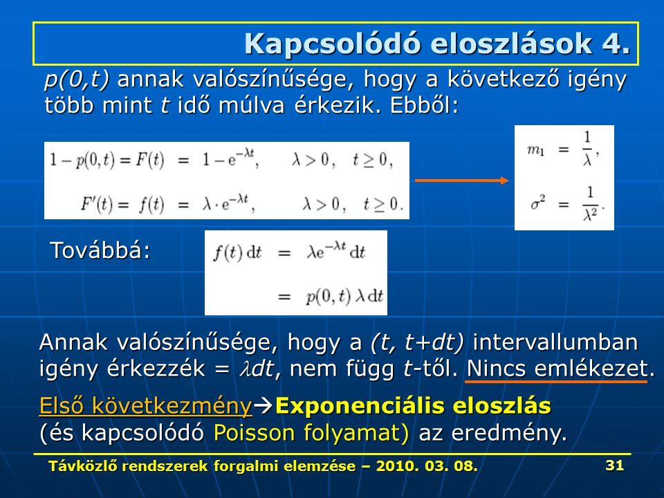Távközlő rendszerek forgalmi elemzése – 2010. 03.