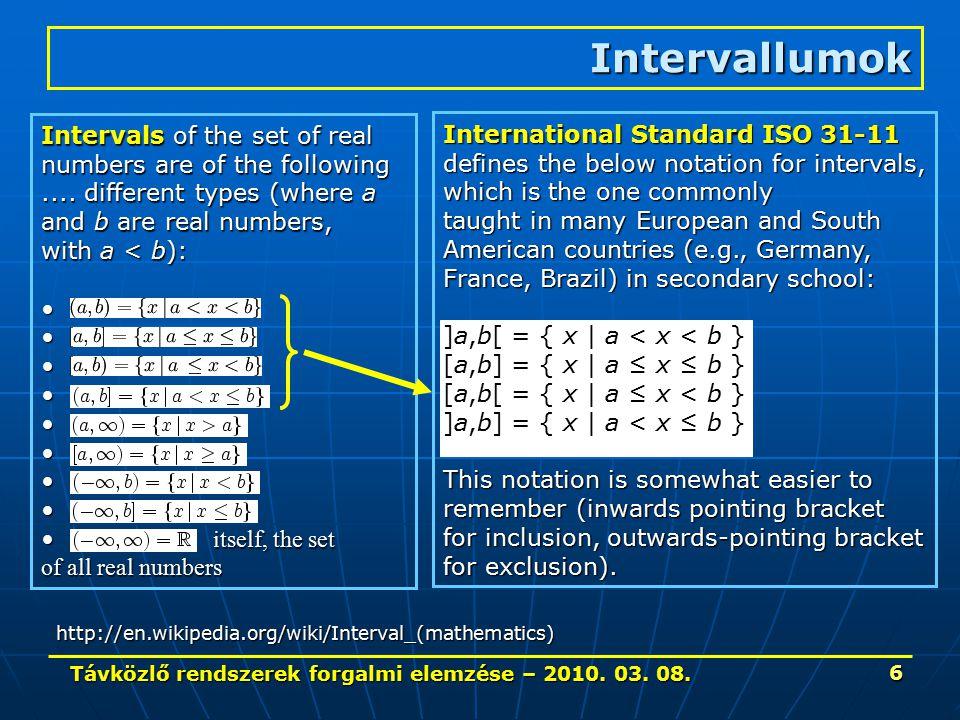 Távközlő rendszerek forgalmi elemzése – 2010. 03. 08. 17 Példák 3.