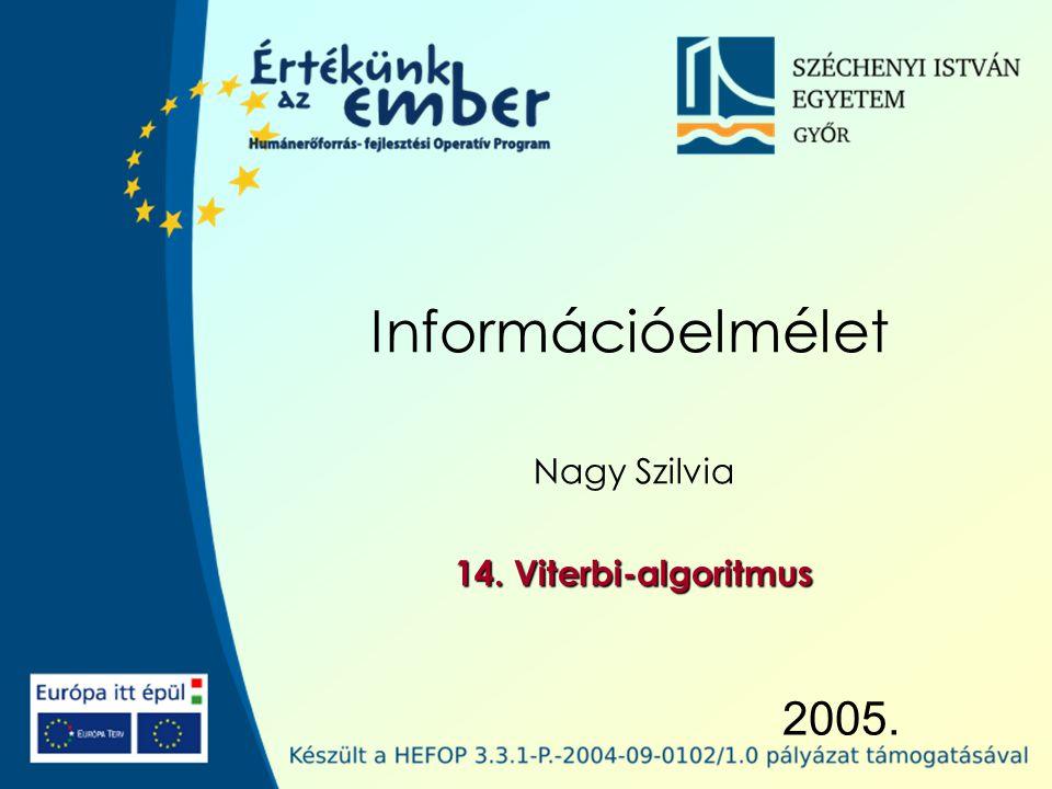 2005. Információelmélet Nagy Szilvia 14. Viterbi-algoritmus