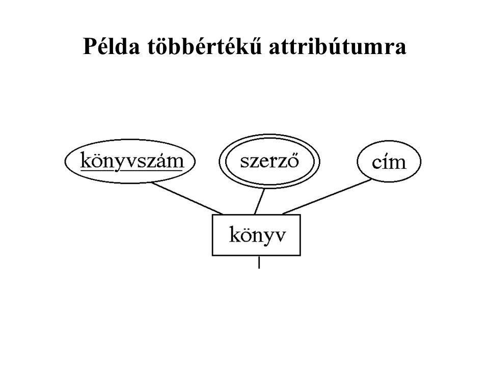 Példa többértékű attribútumra