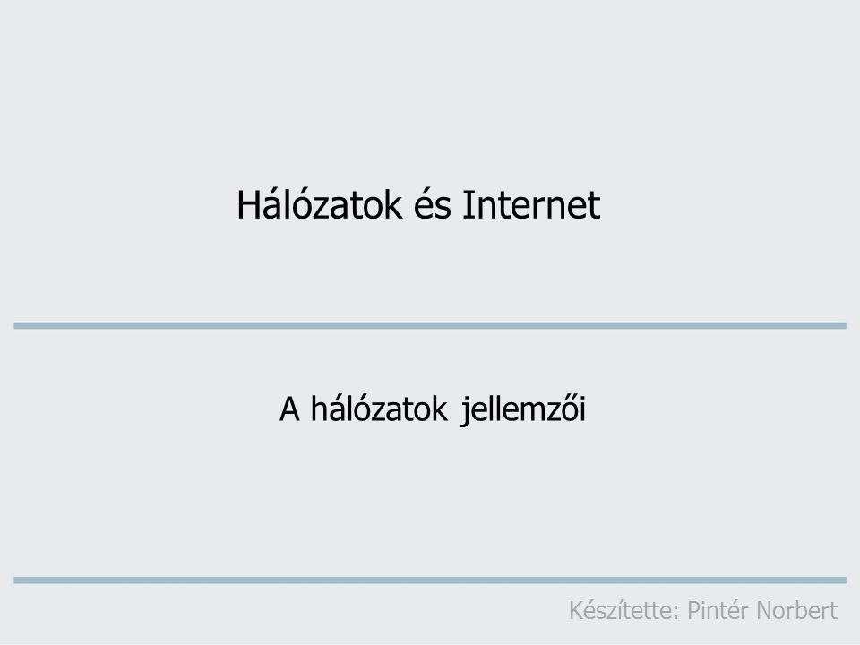  adott idő alatt mennyi információ juttatható el az egyik helyről a másikra  mértékegysége: bit/s  többszörösei: 1 Kbps (Kilobit/s) = 1000 bit/s 1 Mbps (Megabit/s) = 1000 Kbit/s 1 Gbps (Gigabit/s) = 1000 Mbit/s Sávszélesség A hálózatok jellemzői
