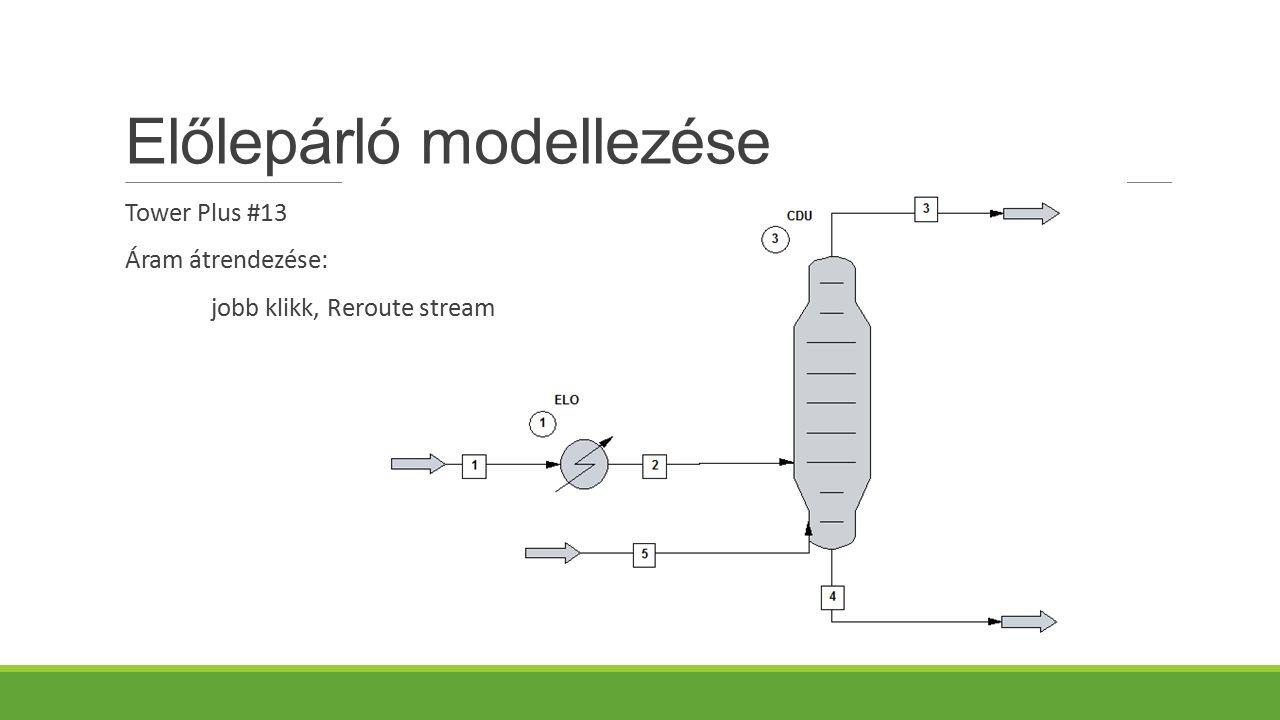 Előlepárló modellezése Tower Plus #13 Áram átrendezése: jobb klikk, Reroute stream