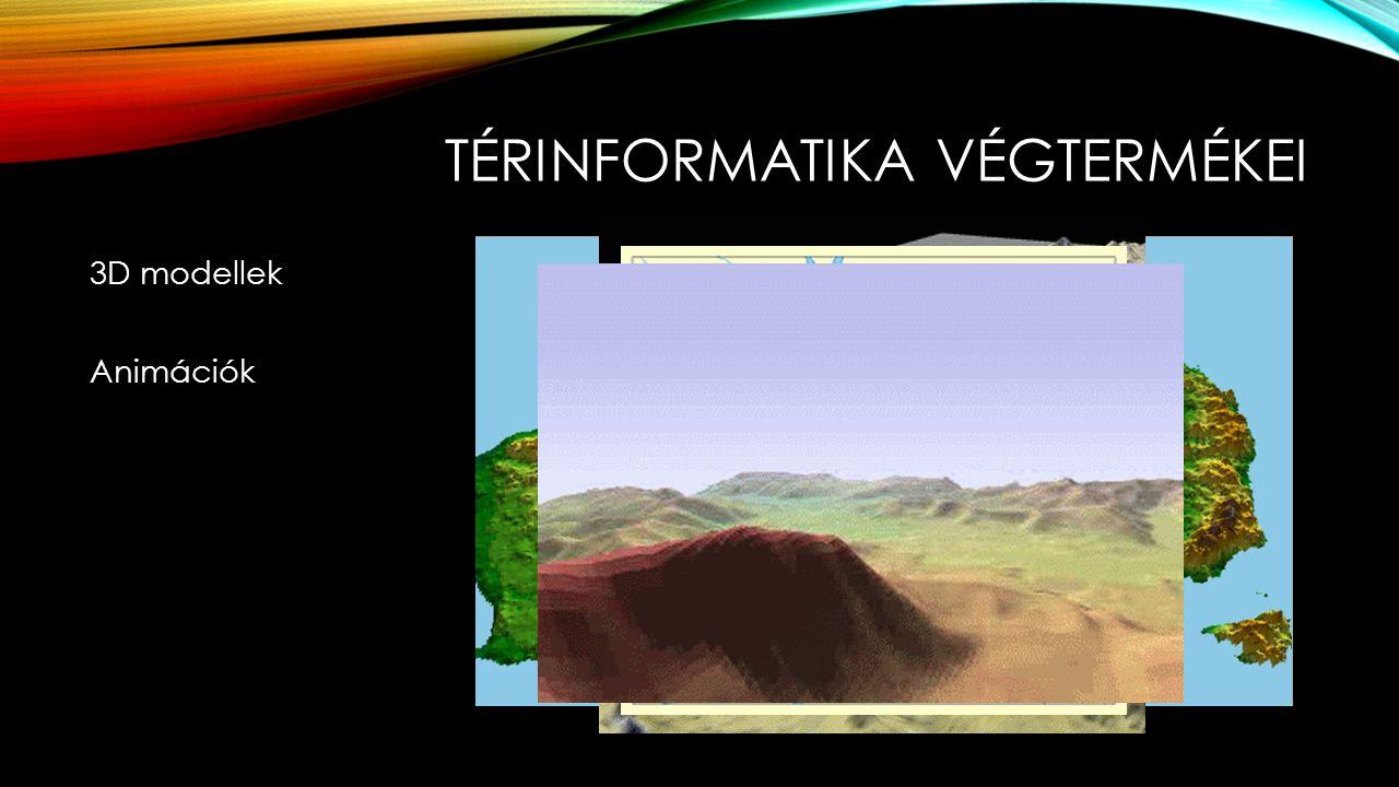 TÉRINFORMATIKA VÉGTERMÉKEI 3D modellek Animációk