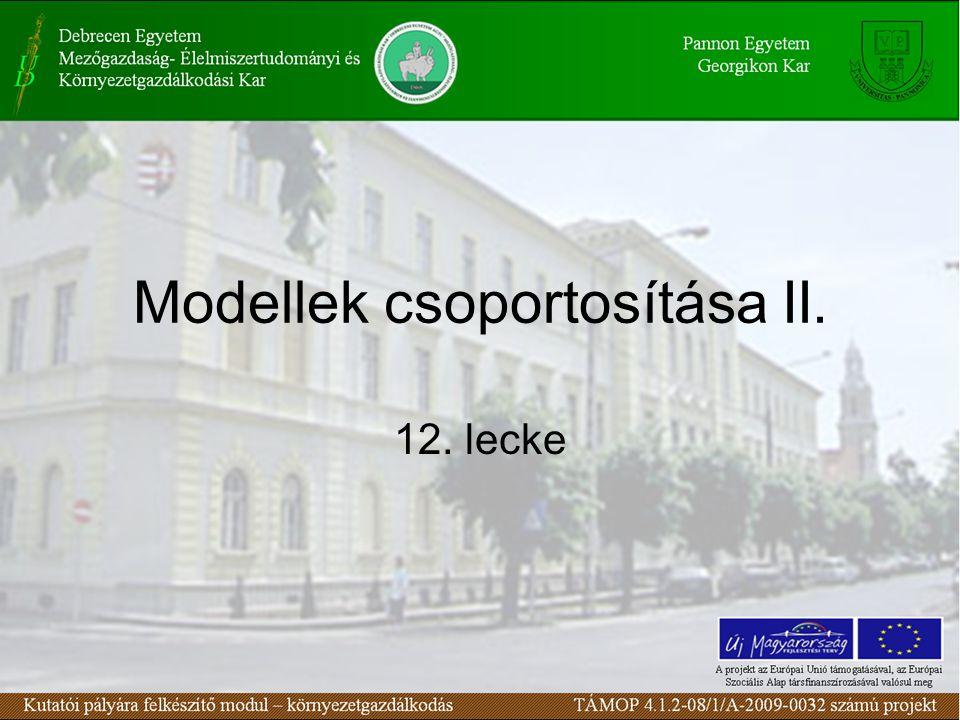 Modellek csoportosítása II. 12. lecke