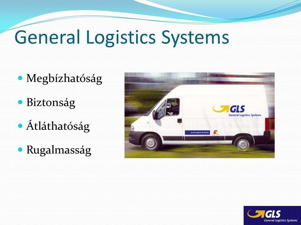 General Logistics Systems Megbízhatóság Biztonság Átláthatóság Rugalmasság