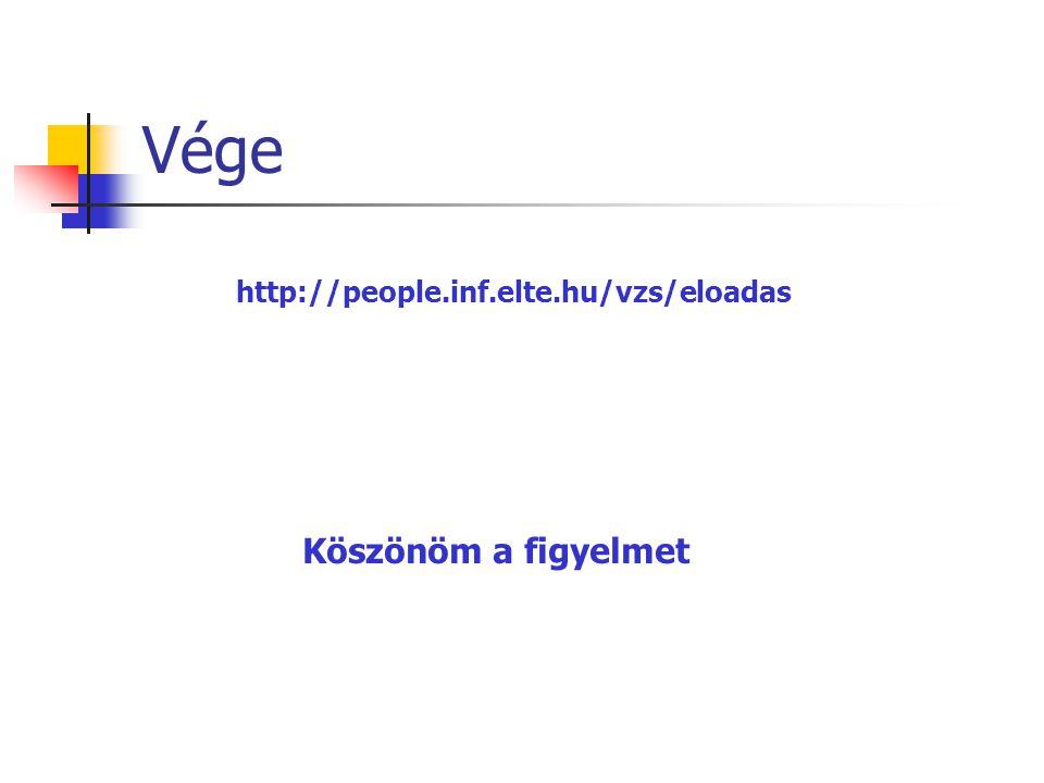 Vége http://people.inf.elte.hu/vzs/eloadas Köszönöm a figyelmet