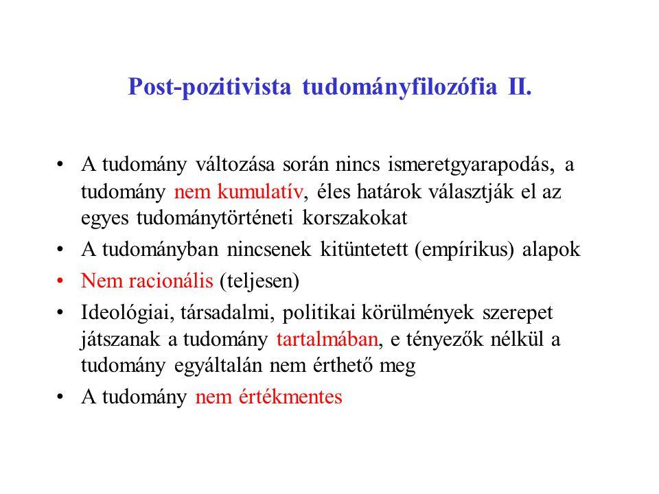 Post-pozitivista tudományfilozófia II.