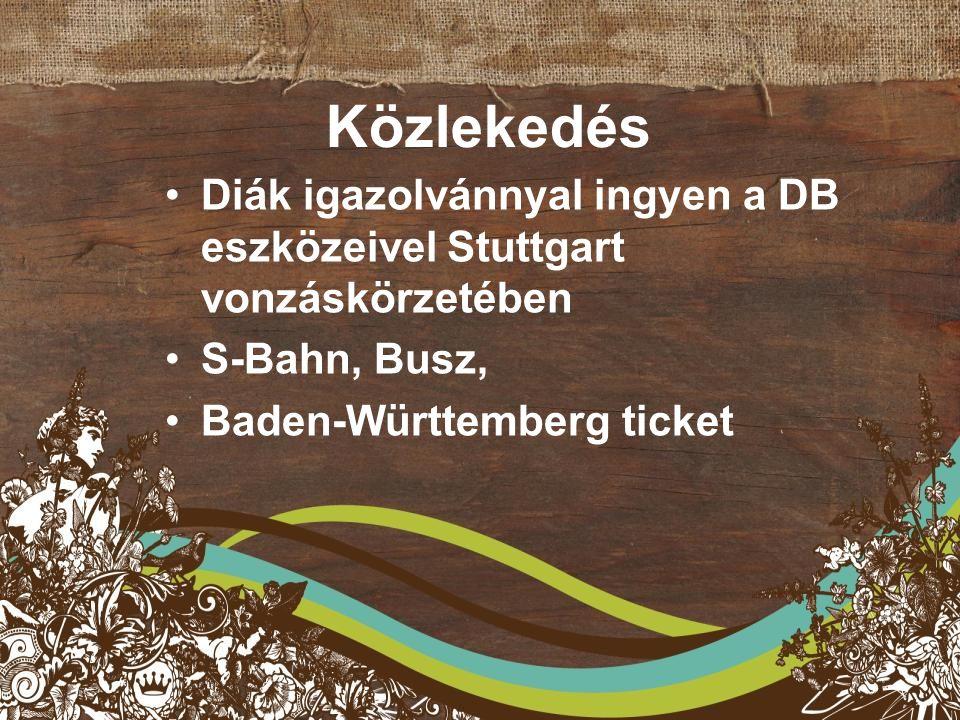 Közlekedés Diák igazolvánnyal ingyen a DB eszközeivel Stuttgart vonzáskörzetében S-Bahn, Busz, Baden-Württemberg ticket