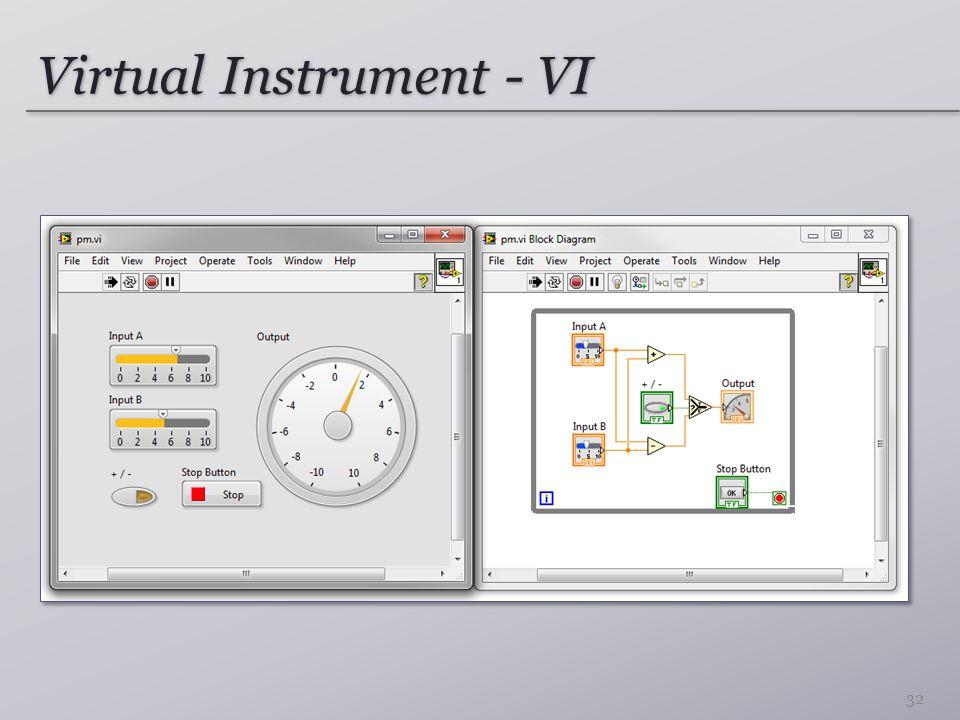Virtual Instrument - VI 32