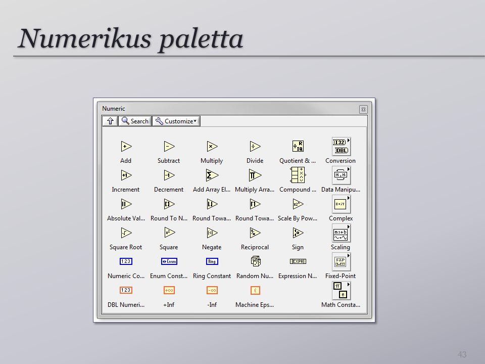 Numerikus paletta 43