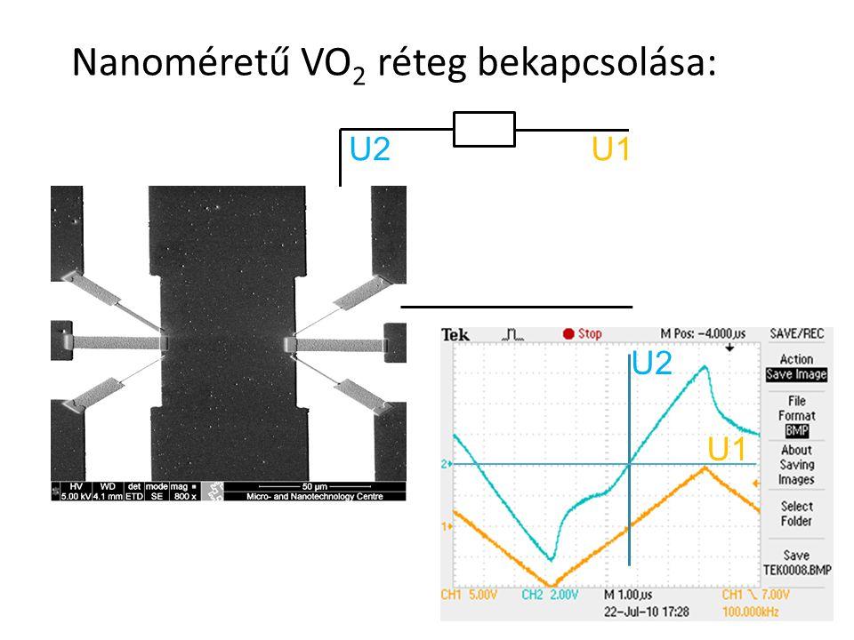 Nanoméretű VO 2 réteg bekapcsolása: 19 U1U2 U1 U2