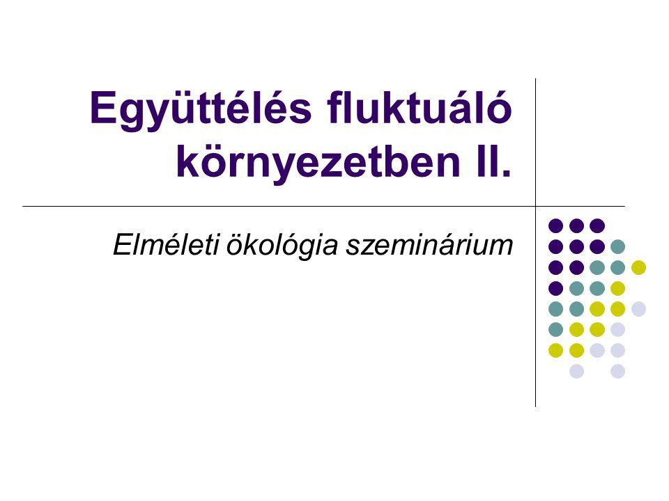 Együttélés fluktuáló környezetben II. Elméleti ökológia szeminárium