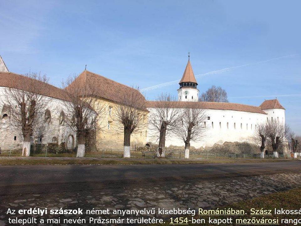 Az erdélyi szászok német anyanyelvű kisebbség Romániában.