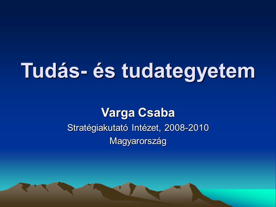 Tudás- és tudategyetem Varga Csaba Stratégiakutató Intézet, 2008-2010 Magyarország