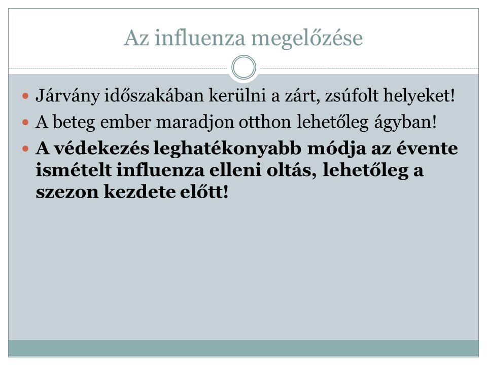 Az influenza megelőzése Járvány időszakában kerülni a zárt, zsúfolt helyeket.