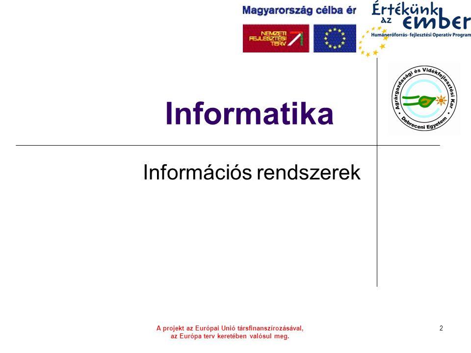 HEFOP 3.3.1–P-2004-06-0071/1.013 Információs rendszerek fejlődési útja