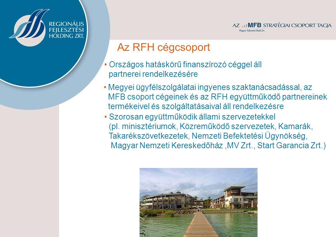 Az RFH cégcsoport Országos hatáskörű finanszírozó céggel áll partnerei rendelkezésére Megyei ügyfélszolgálatai ingyenes szaktanácsadással, az MFB csop
