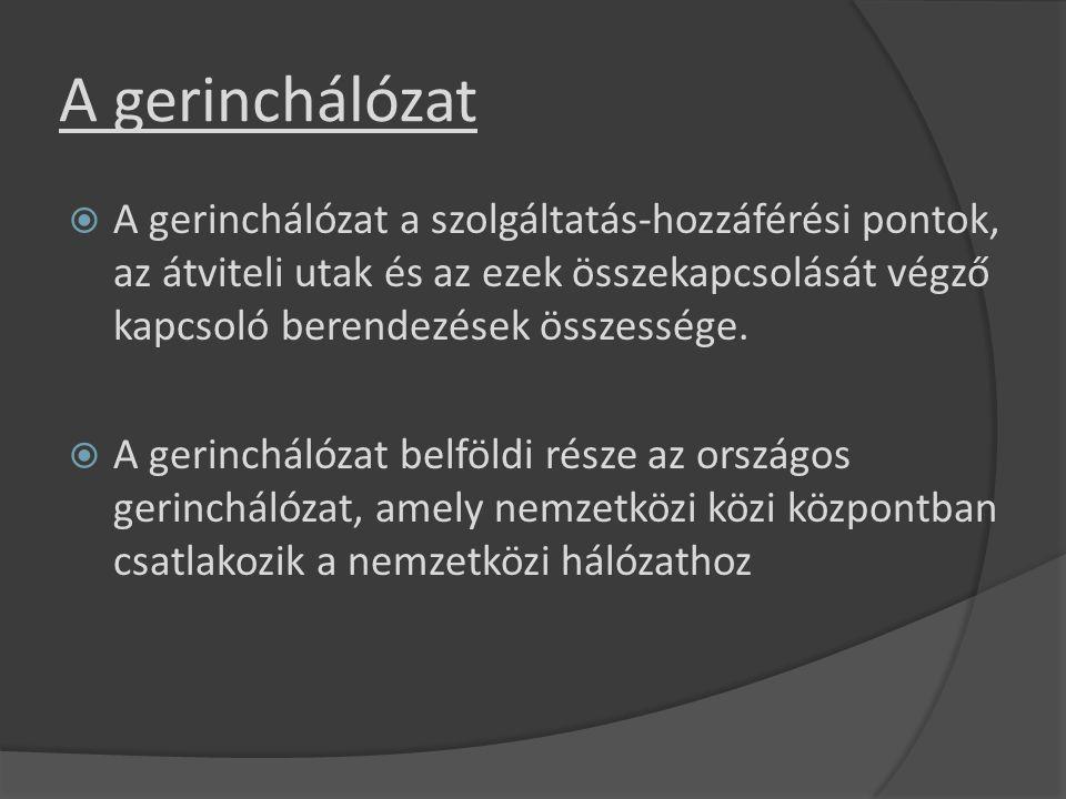 Hálózati síkok  Magyarország helyközi tranzithálózata kétszintű.