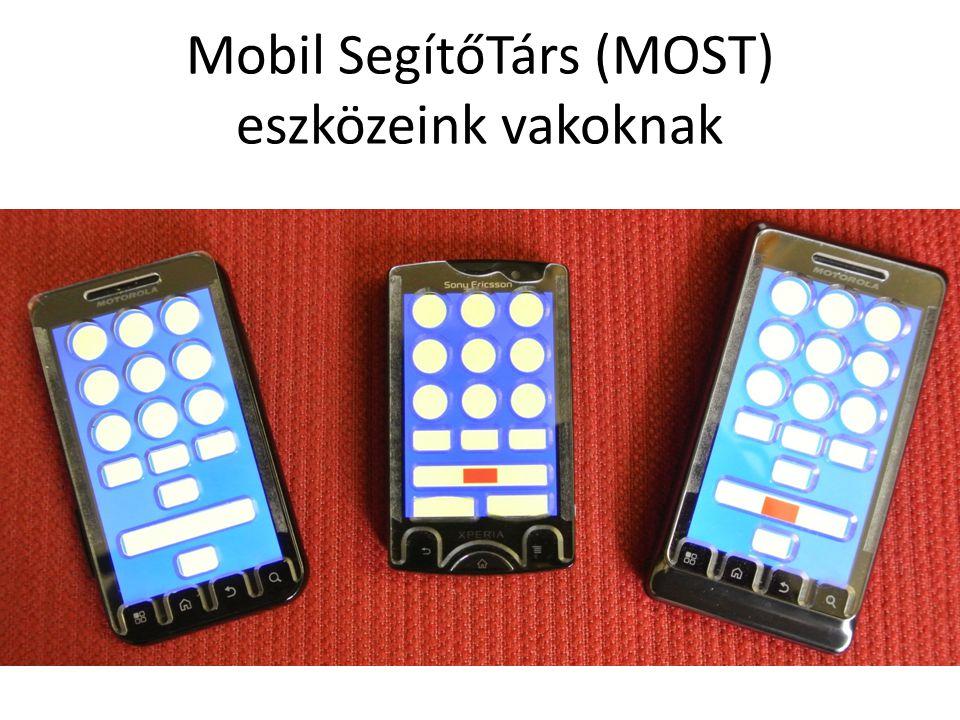 Mobil SegítőTárs (MOST) eszközeink vakoknak