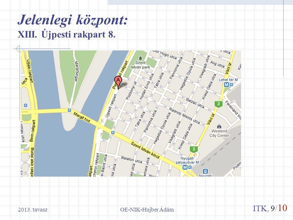 ITK, 9/ 10 Jelenlegi központ: XIII. Újpesti rakpart 8. OE-NIK-Hujber Ádám2013. tavasz