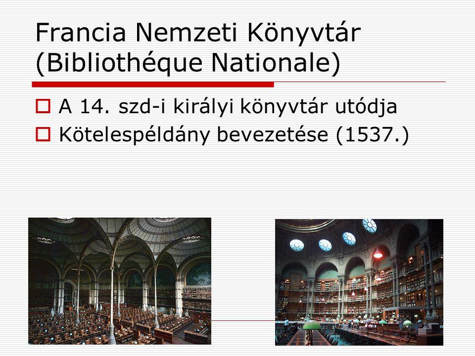 Francia Nemzeti Könyvtár (Bibliothéque Nationale)  A 14.