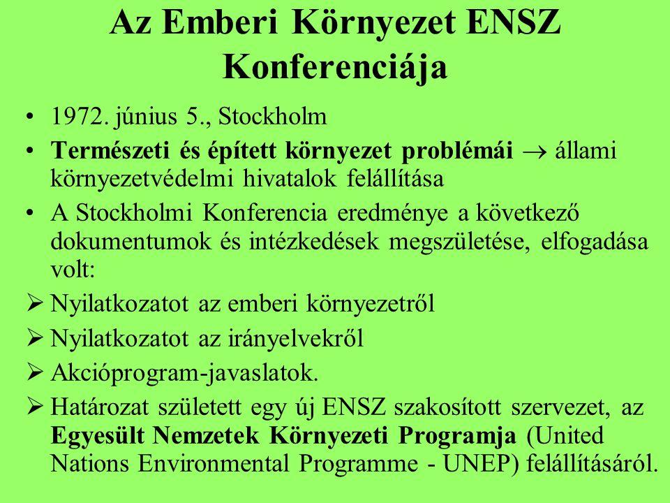 Az Emberi Környezet ENSZ Konferenciája 1972.