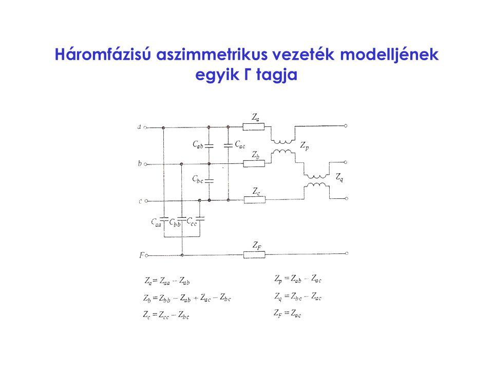 Háromfázisú aszimmetrikus vezeték modelljének egyik Γ tagja