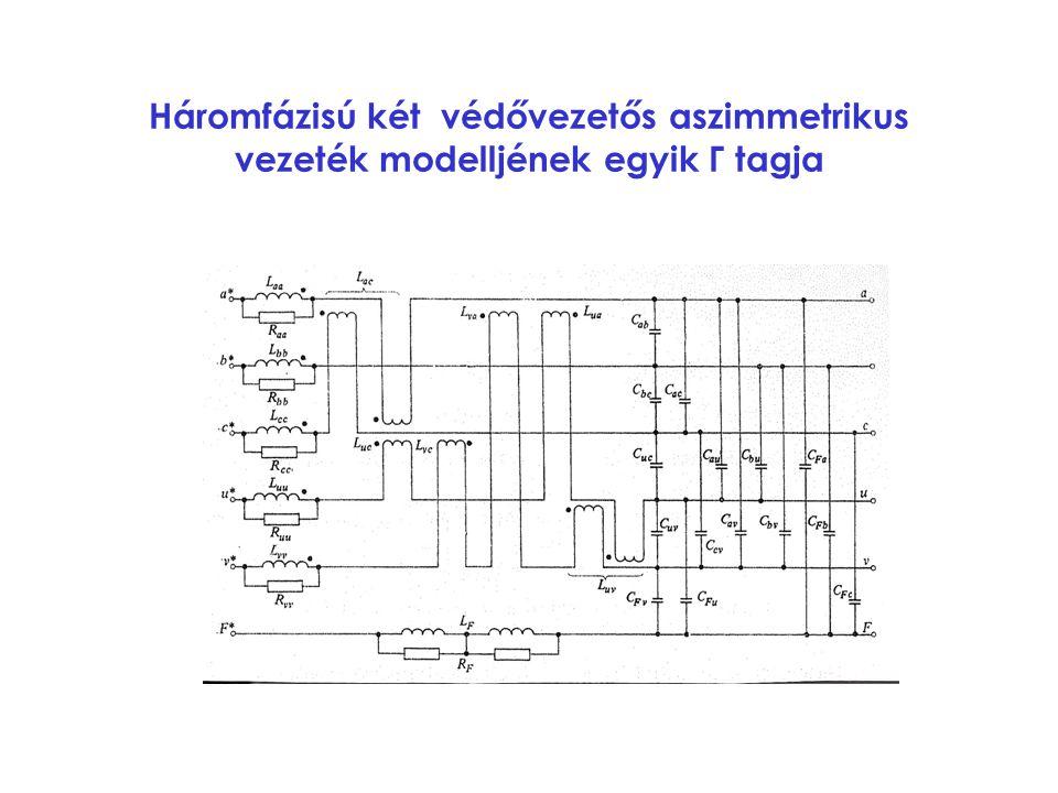 Háromfázisú két védővezetős aszimmetrikus vezeték modelljének egyik Γ tagja