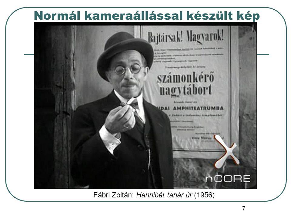 8 Felső kameraállással készült kép Fábri Zoltán: Hannibál tanár úr (1956)