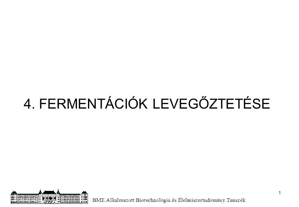 4. FERMENTÁCIÓK LEVEGŐZTETÉSE 1