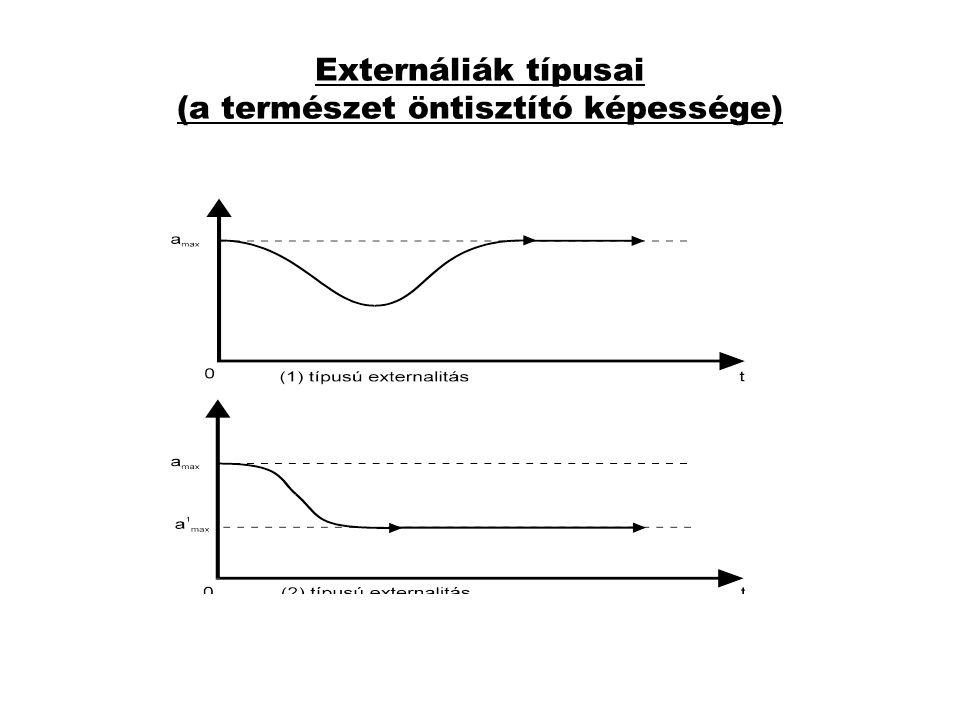 Externáliák típusai (a természet öntisztító képessége)