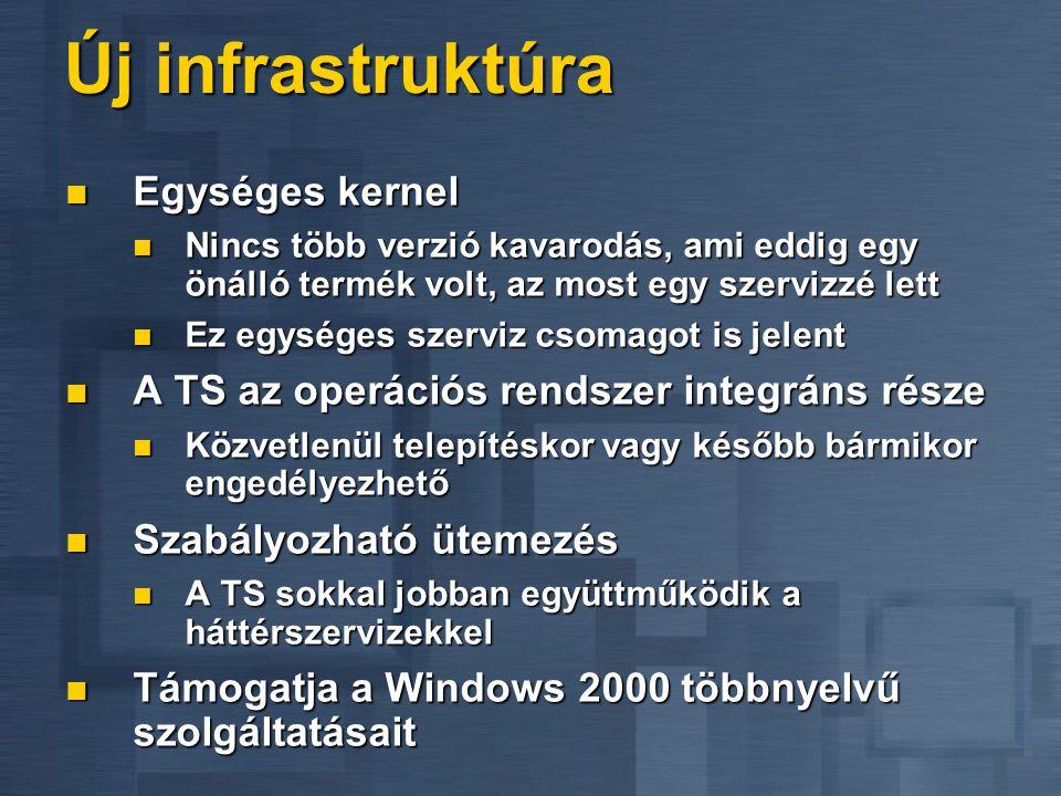 Alkalmazás szerver Elsődleges cél az interaktív alkalmazások kiszolgálása Elsődleges cél az interaktív alkalmazások kiszolgálása Csatlakozási jog az á