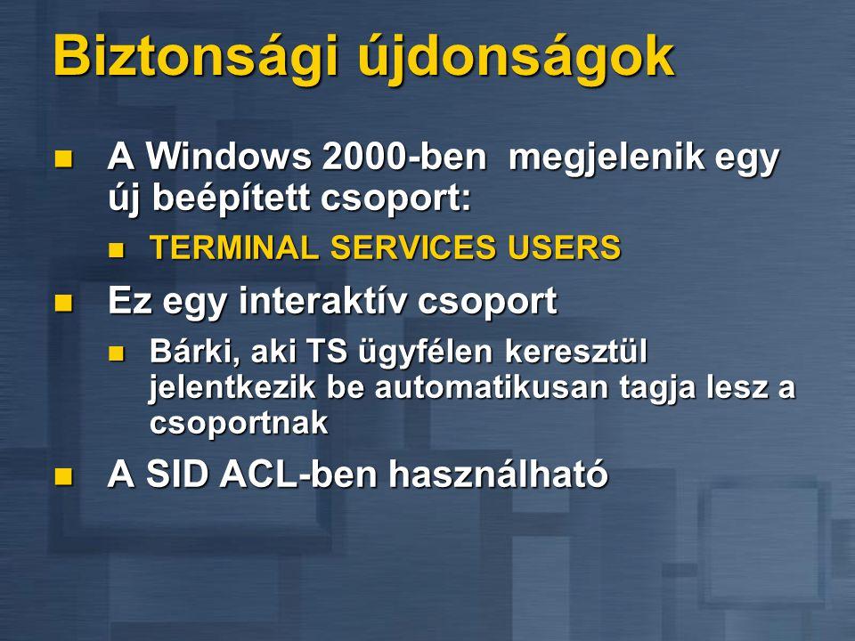 Adminisztrációs eszközök Terminal Services Manager Terminal Services Manager Disconnect és logoff státusz ellenőrzés Disconnect és logoff státusz elle