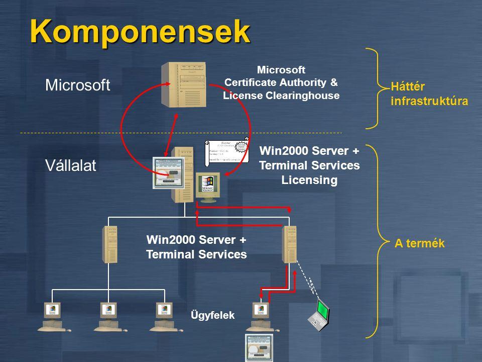 Terminal Services Licencing Szoros licensz menedzsment Terminal Server-hez Szoros licensz menedzsment Terminal Server-hez Az első valóban korlátozó je